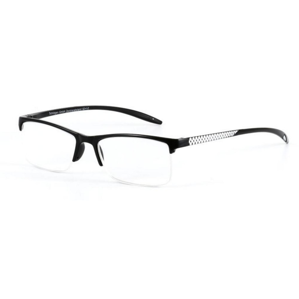 +1.50 Unisex Reading Glasses Presbyopic Eyeglasses Full Frame Portabl(Black) - intl