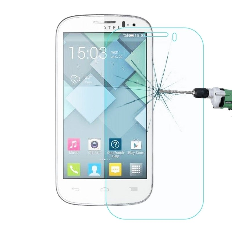 0.26mm 9 H + Kekerasan Permukaan 2.5D Explosion-proof Tempered Kaca Film untuk Alcatel One Touch POP C5 -Intl