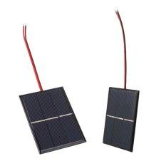 0.65 W 1.5 V Mini Solar Power Cell Charger Panel DIY Sel Surya dengan Kawat Kabel-Intl