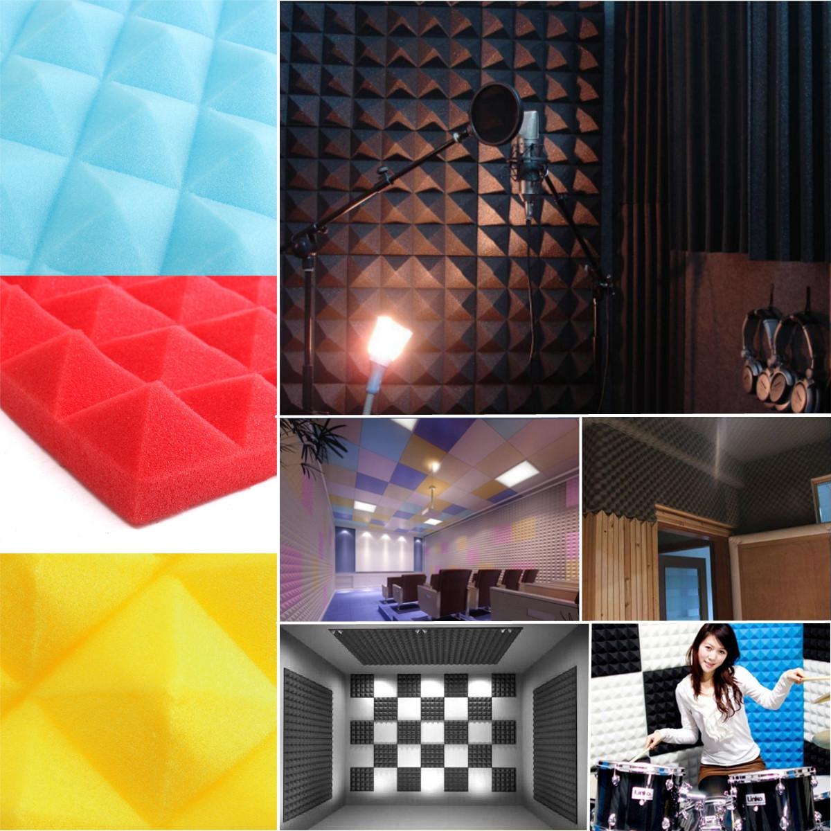 1 Buah Busa Kedap Suara Akustik Studio Rekaman Suara Menghentikan Penyerapan Pyramid Busa Hitam Intl Promo Beli 1 Gratis 1