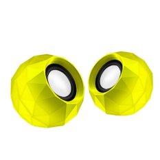 1 Pair Kuning Mini Speaker Komputer Suara Yang Bagus PC USB Power 3.5mm AUX 1.2 M Kabel Bernafas LED Musik Laptop Speaker untuk Ponsel untuk Notebook-Intl