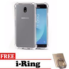 1 Paket Casing Handphone Anti Crack Elegant Softcase for Samsung Galaxy J7 Pro 2017 -  Clear + Bonus i-Ring Phone