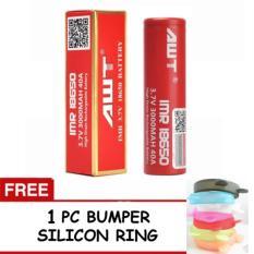 Harga 1 Pc Awt Battery Imr 18650 3 7V 3000 Mah 40A Battery Vape Rokok Elektrik Free 1 Pc Bumper Silicon Awt Asli