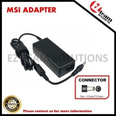 (1 Year Warranty) Replacement Laptop/Notebook AC Adapter ChargerMSI M510C 19V 3.42A (65W) 5.5*2.5mm - intl