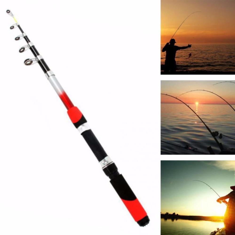 Promo 1 8M Portable Telescopic Fishing Rod Glass Fiber Fishing Pole Travel Sea Fishing Spinning Rod Intl Hong Kong Sar Tiongkok