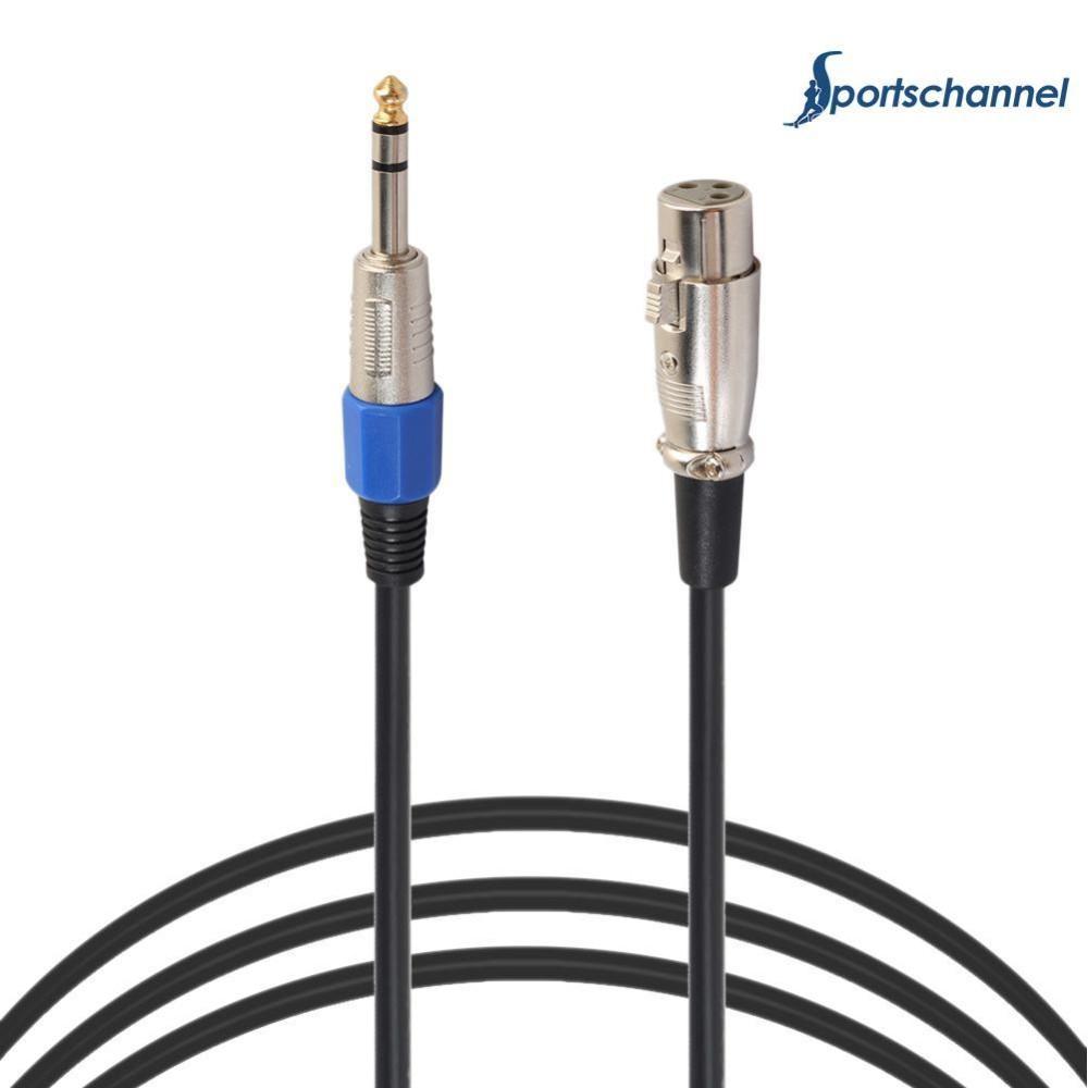 3 Pin XLR Mikrofon Kabel Male To Female Seimbang Patch Lead MIC (5 M)