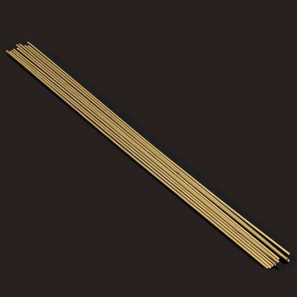 10 40 Pcs 1 6X250Mm Batang Kuningan Kabel Sticks Untuk Perbaikan Las Mematri Patri Internasional Asli