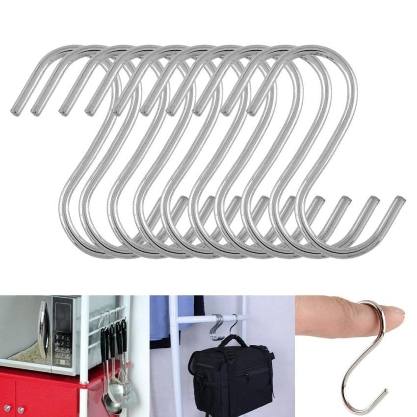 10 pcs S Kait Cantolan Cantelan S Gantungan Stainles Hook Hanger besi