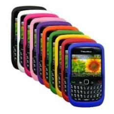 10 Silicone Kasus untuk Blackberry Curve 8520/8530/9300/9330. Warna: Biru, Jeruk, Hijau, Kuning, Ungu, Hitam, Pink, Hot Pink, Merah dan Putih-Internasional