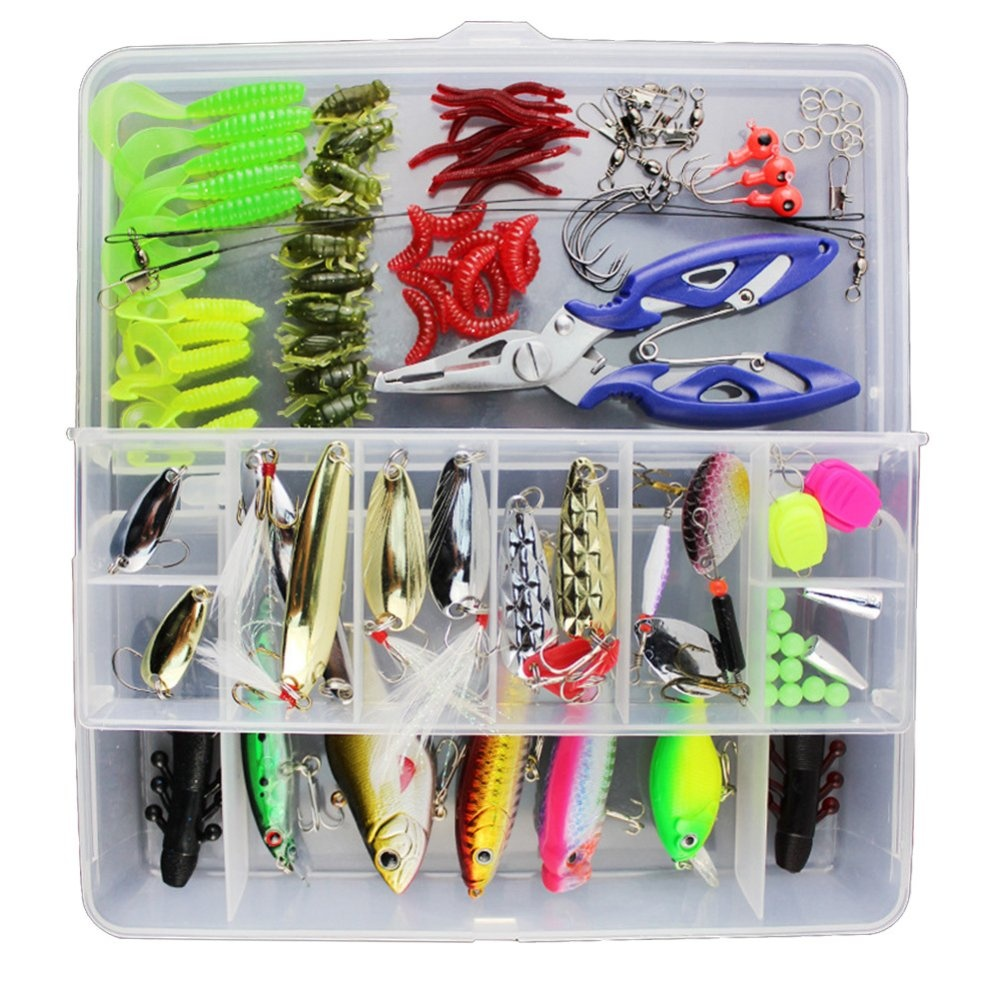 Beli 100 Pcs Fishing Lure Set Kit Soft And Hard Lure Baits Mengatasi Internasional Cicilan