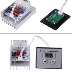 Ulasan Lengkap 10000W Scr Digital Voltage Regulator Speed Control Dimmer Thermostat Ac 220V 80A Intl