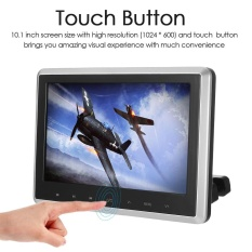 10.1 Inch TFT Digital LCD Screen Car Headrest DVD Player Touch Button Monitor with HD USB SD Port Remote Control - intl