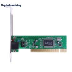 10/100 Mbps Adaptif RJ45 PCI Jaringan Kabel LAN Adapter Card untuk Desktop PC (