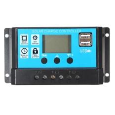 10/20/30A 12/24V LCD PMW Solar Charge Controller Battery Regulator 2 USB Backlit 30A - intl