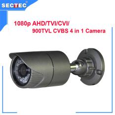 1080 P AHD/TVI/CVI/900TVL CVBS 4 In 1 Kamera dengan IR CUT, OSD 24 Pcs IR-LED, Rentang IR 20 M Waterproof IR Bullet Camera CCTV KAMERA