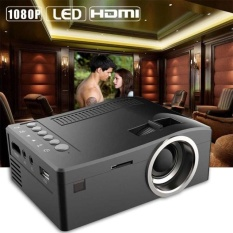 1080 P HD LED Home Multimedia Center Cinema USB TV VGA SD HDMI Mini Proyektor BK-Intl