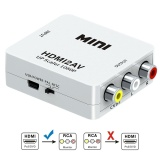 Spesifikasi 1080P Hdmi To Av Converter 3Rca Cvbs Composite Video Audio Converter Adapter Supporting Pal Ntsc With Usb Charge Cable Intl Yang Bagus Dan Murah
