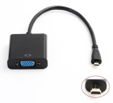 Jual 1080 P Micro Hdmi Ke Vga Video Converter Adaptor Kabel For Pc Monitor Proyektor Grosir