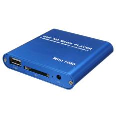 Beli 1080 P Media Player Mini Hdd Mkv H 264 Rmvb Hd Penuh Dengan Tuan Rumah Usb Sd Pembaca Kartu Biru