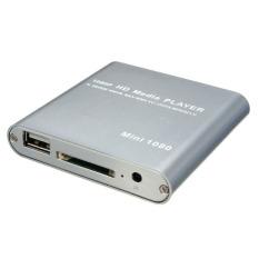 Iklan 1080P Media Player Mini Hdd Mkv H 264 Rmvb Hd Penuh Dengan Tuan Rumah Usb Sd Pembaca Kartu Silver