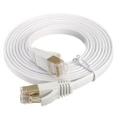 Toko 10 Gbps 600 Mhz Cat 7 Rj45 Lan Ethernet Modem Router Jaringan Kabel Pipih 2 M Termurah Di Tiongkok