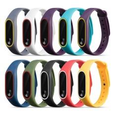 Spesifikasi 10Pcs Double Color Sports Silicone Wristband Strap For Xiaomi Mi Band 2 Tracker Intl Murah Berkualitas