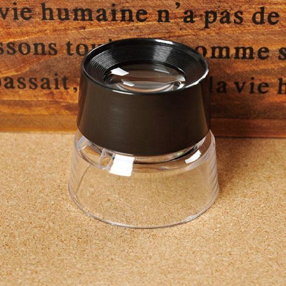 10X Kaca Pembesar Pembesar Mikroskop untuk Perhiasan Loupe Stamp Antik-Intl