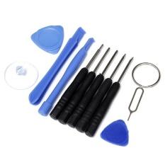 11 pcs Cell Phones Opening Pry Repair Tool Kit Screwdrivers Tools - intl