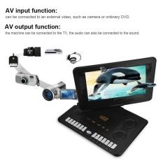 110-240 V 13.8 Inch Portable Pemutar Dvd 800*480 Resolusi Dukungan Svcd Vcd Cd Cd-R/ Rw Eu Plug-Intl By Duoqiao.