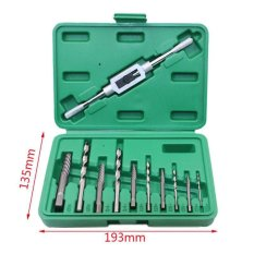 Diskon 11 Pcs Set Scr*w Extractor Bor Bits Sekrup Mudah Keluar Baut Penghilang Kit Dengan Case Intl Oem
