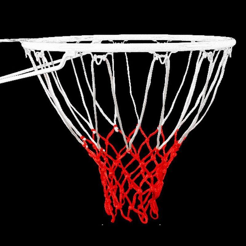 12 Loop Tahan Lama Standar Polyester 50 Cm Panjang Putih dan Merah Thread Sports Basketball Hoop Mesh Net-Intl