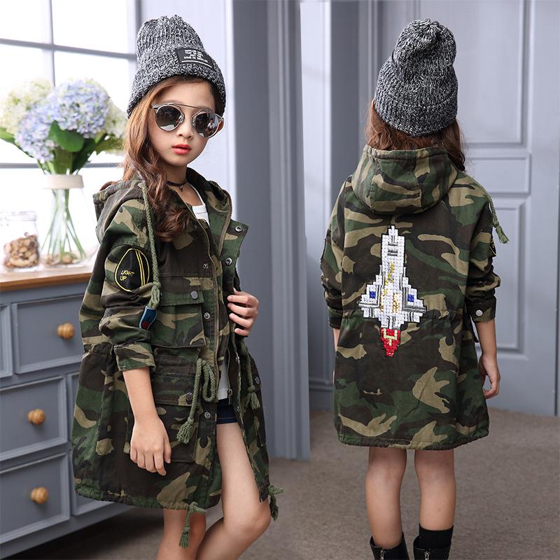 Spesifikasi 12 Musim Semi Dan Musim Gugur Anak Perempuan Dan Bagian Panjang Jaket Jaket Roket Kamuflase Roket Kamuflase Oem Terbaru