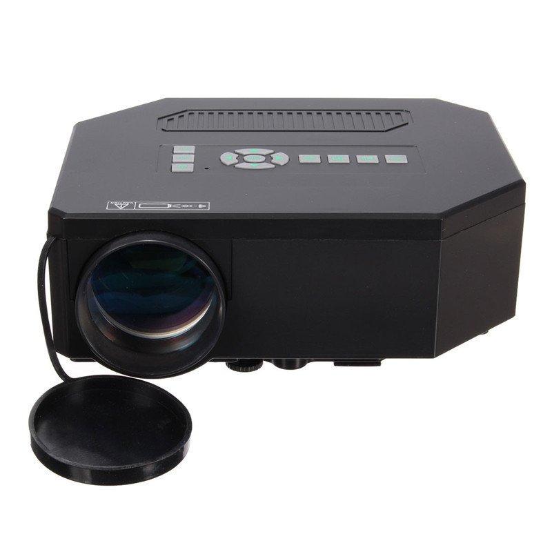 Jual Beli 1200 Lumen Hd 1080 P Rumah Bioskop 3D Hdmi Usb Lcd Proyektor Mini Permainan Video Memimpin Hitam Tiongkok