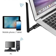 1200Mbps Network Adapter Dual Band 2.4/5Ghz USB 3.0 WiFi Dongle 802.11AC Wireless Network Adapter with Antenna - intl