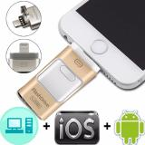 Katalog 128G 3 In 1 I Flash Drive Usb Otg Usb Hd Pendrive Data Petir Untuk Iphone Ipad Ipod Android Antarmuka Usb Drive Pena For Ponsel Pc Mac Gold International Terbaru