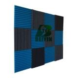 Promo 12 Pcs Beiyin Flame Retardant Akustik Perawatan Membungkam Sponge Panel Studio Tile Wedge Busa Penyerapan Suara Noisecontrol 30X30X2 5 Cm