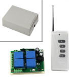 Promo Toko 12 V 10 Amp 4 Saklar Nirkabel Saluran Menggunakan Remote Control 1000 M 2 Buah Set Putih