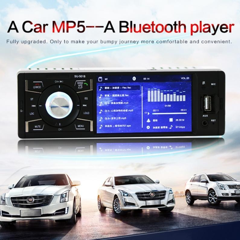 Toko 12V 4 1 Inch Bluetooth Hd Car Stereo Radio Mp3 Mp5 Player Intl Terlengkap Di Tiongkok