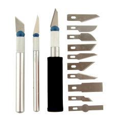 Spesifikasi 13Pcs Plastic Cutter Acrylic Cuter Pisau Mica Gunting Akrilik Pcb Precision Knife Set Stainless Steel Yg Baik