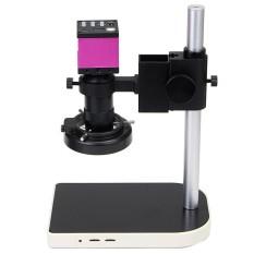 14MP 60 LED USB Kamera Digital Mikroskop Lift Berdiri 10X-100X Video Zoom Lensa-Intl