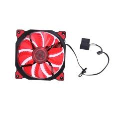 15 Lampu LED Clear 120mm Tenang PC Case Penyejuk Fan MOD Semua Warna (merah)- Intl