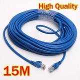 Beli 15 M Rj45 Cat5E Ethernet Adsl Modem Router Jaringan Internet Kabel Lan Memimpin Tambalan Terbaru