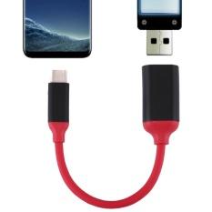 15 Cm Aluminium Paduan Kepala USB-C/type-c 3.1 Male Ke USB 3.0 Perempuan OTG Converter Adaptor Kabel untuk Samsung Galaxy S8 And S8 +/LG G6/Huawei P10 And P10 Plus/OnePlus 5/ Xiaomi Mi6 And Max 2/dan Smartphone Lainnya (Merah)