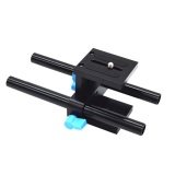 Jual 15Mm Rail Rod Support System Baseplate Mount For Dslr Mengikuti Fokus Rig Matt Branded Murah
