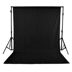 Promo 1 6X3M 5 X 10Ft Fotografi Studio Non Woven Backdrop Latar Belakang Layar Hitam