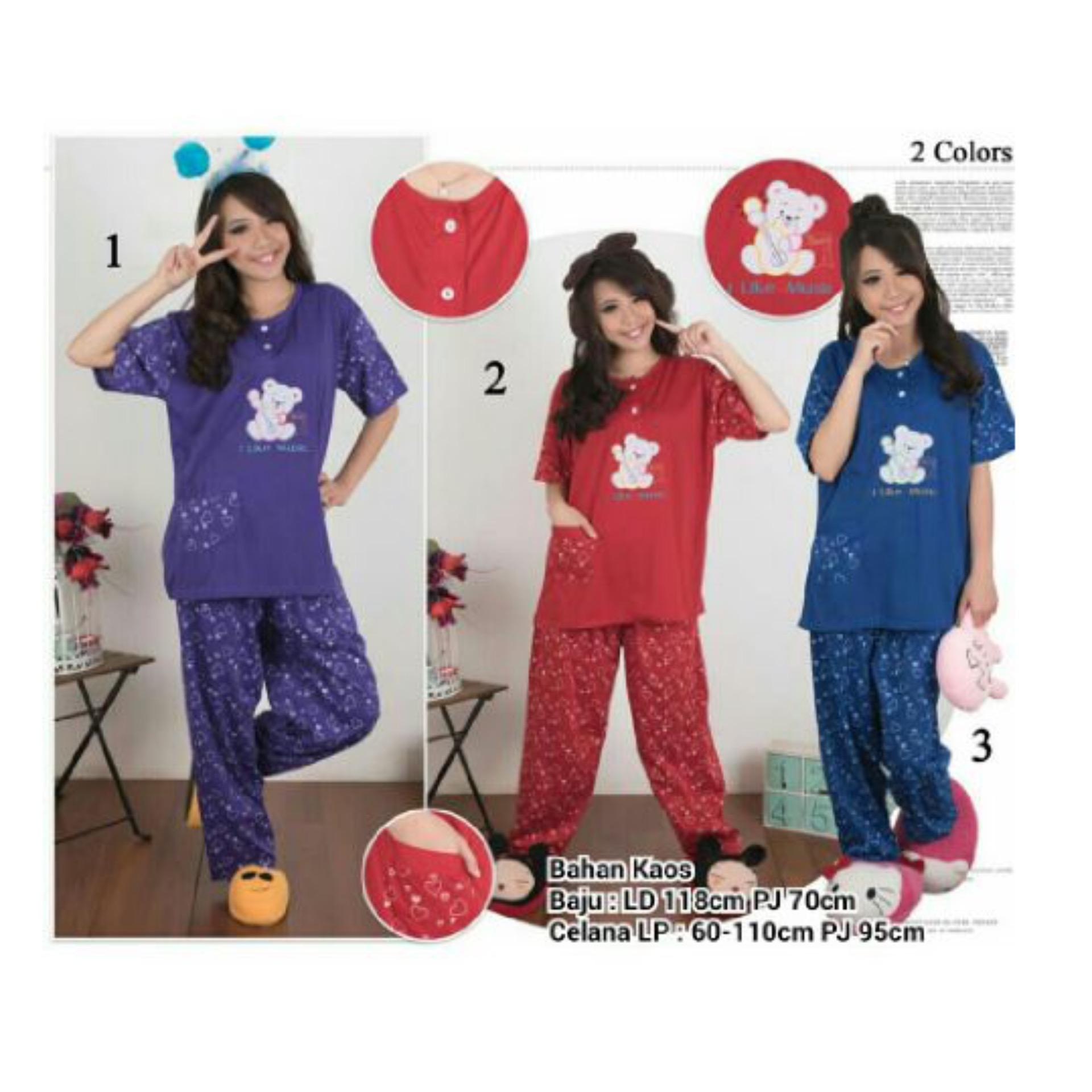 Beli 168 Collection Stelan Baju Tidur Jumbo Little Bear Piyama Ungu Secara Angsuran
