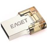 Harga 16 G Eaget V8 Micro Otg Usb Flash Drive Emas Fullset Murah