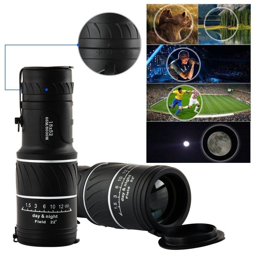 Spesifikasi 16X52 Malam Waterproof Vision Teleskop Optik Lensa Zoom For Berkemah Mendaki Berburu Dan Harganya