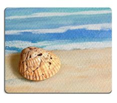 17P03447 Berkualitas Tinggi Kreativitas Mousepad Gaming Mouse Pad Seashell On Painted Texture (ukuran: 300*200*3mm)-Intl