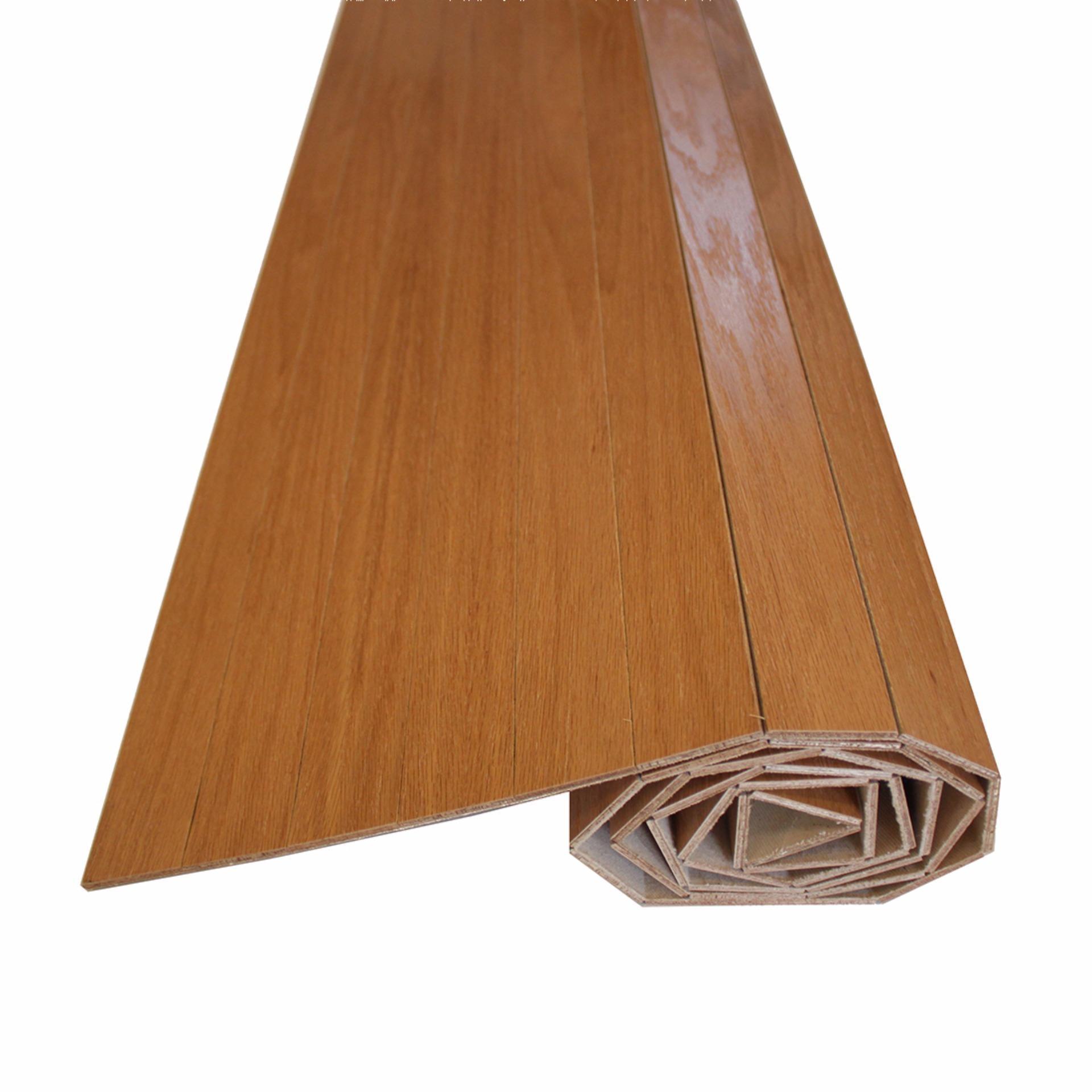 182cm x 245cm - Karpet Kayu Plywood / Wood Carpet Gulung Lapisan Veneer - Light Brown - United Goods